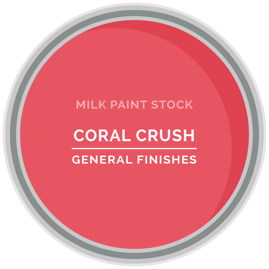 stock milk paint color coral crush general finishes design center