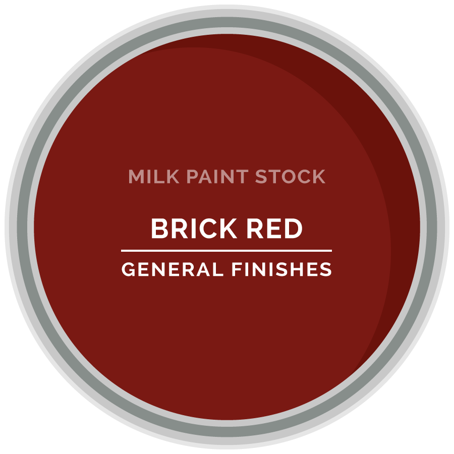 Stock Milk Paint Color Brick Red