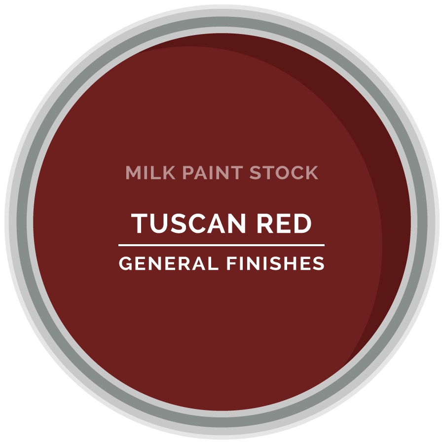 Stock Milk Paint Color Tuscan Red General Finishes