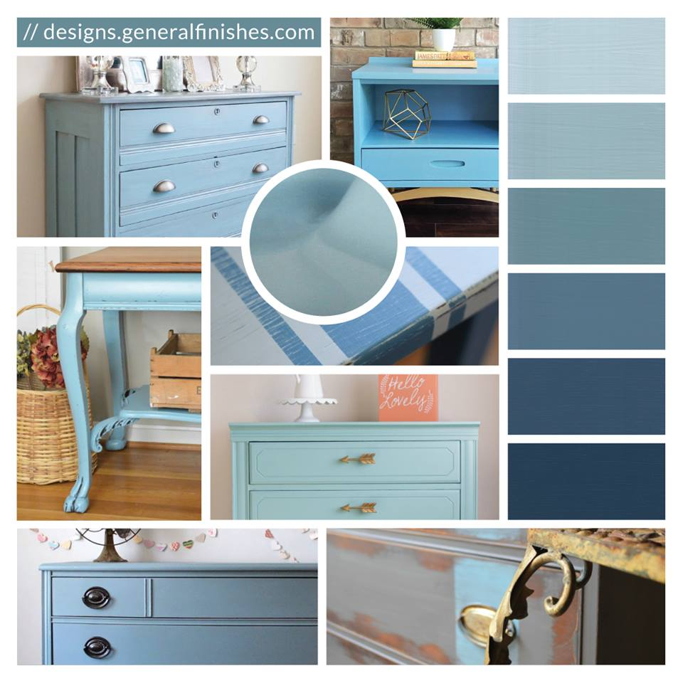 General Finishes Design Center: Halcyon Blue Style Inspiration