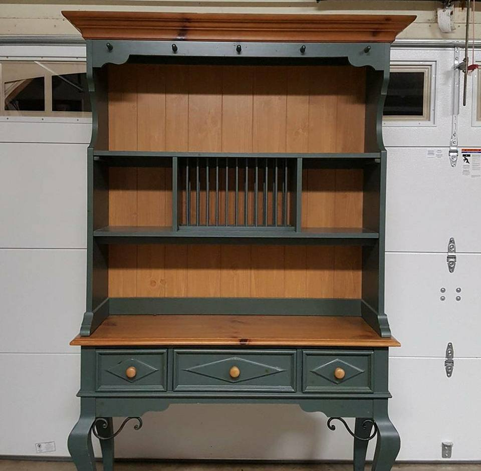 General Finishes Design Center: Antique White And Java Gel Stained Hutch