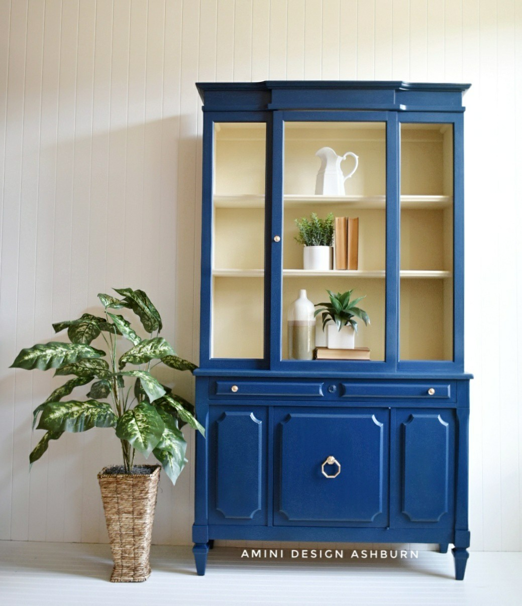 Custom Blue China Cabinet General Finishes Design Center