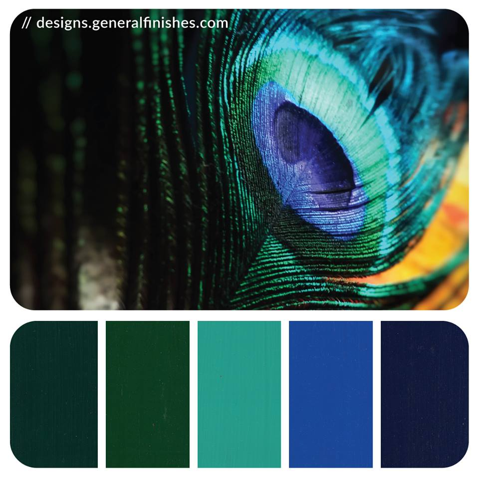 Peacock Color Palette General Finishes Design Center