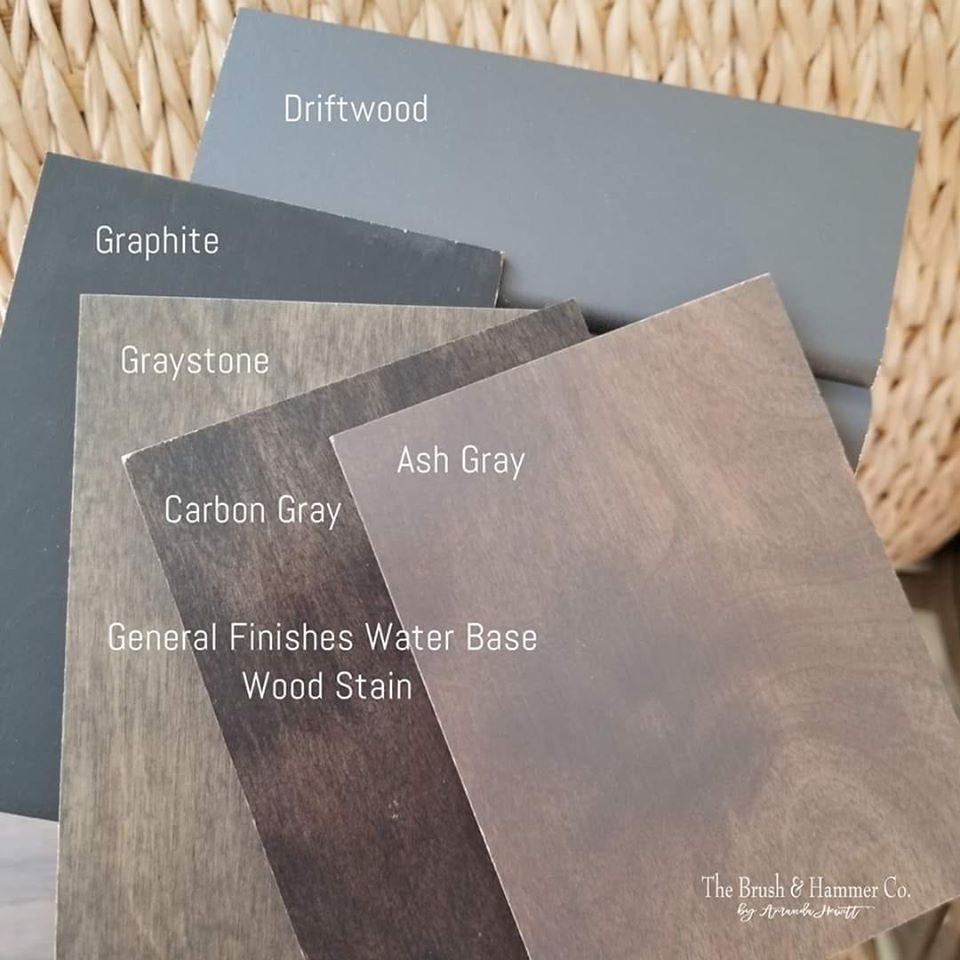Comparison Of Gray Water Based Stains General Finishes