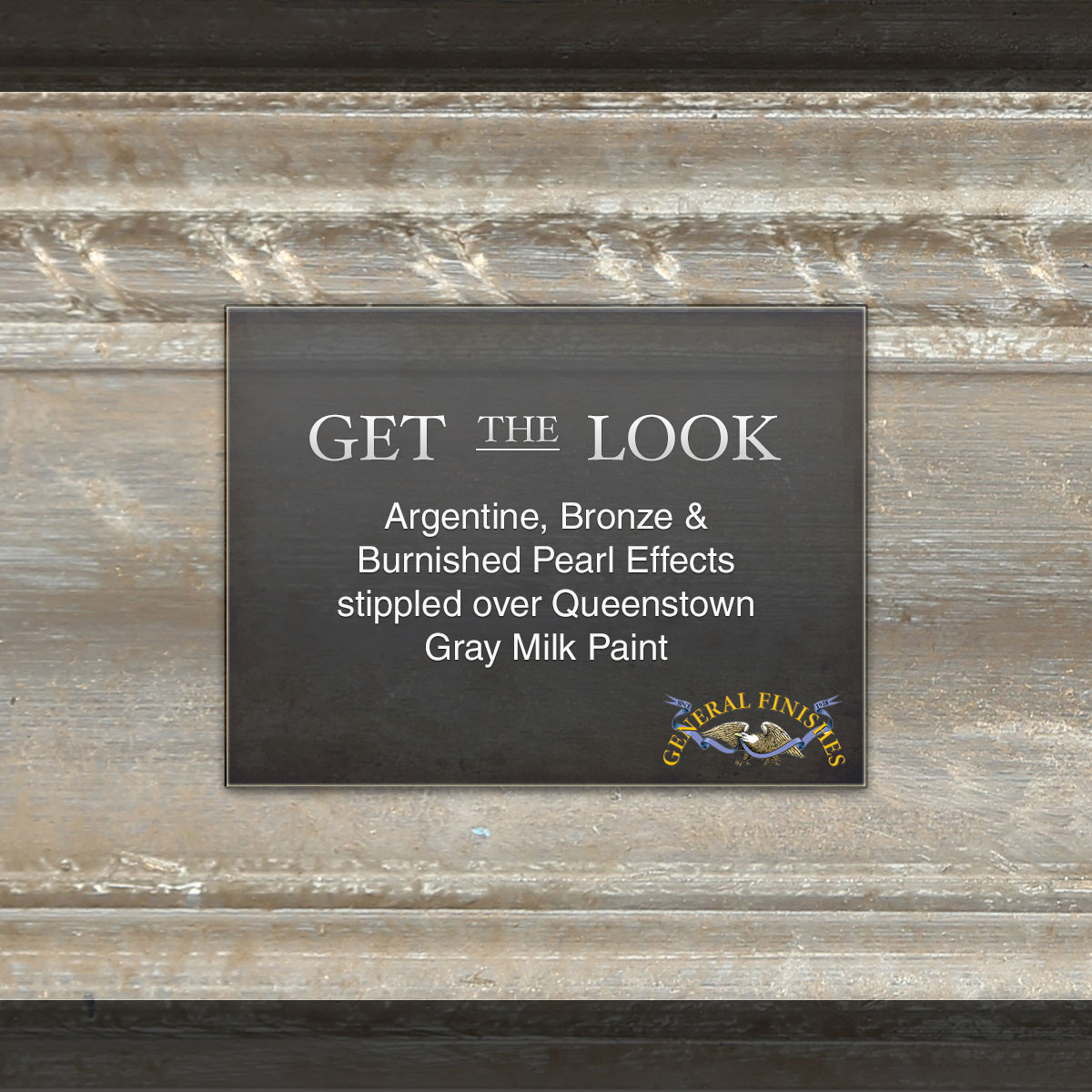 Pearl Effects General Finishes Fuse Box 1920 Get The Look Argentine Bronze Burnished Over Queenstown Gray Milk Paint