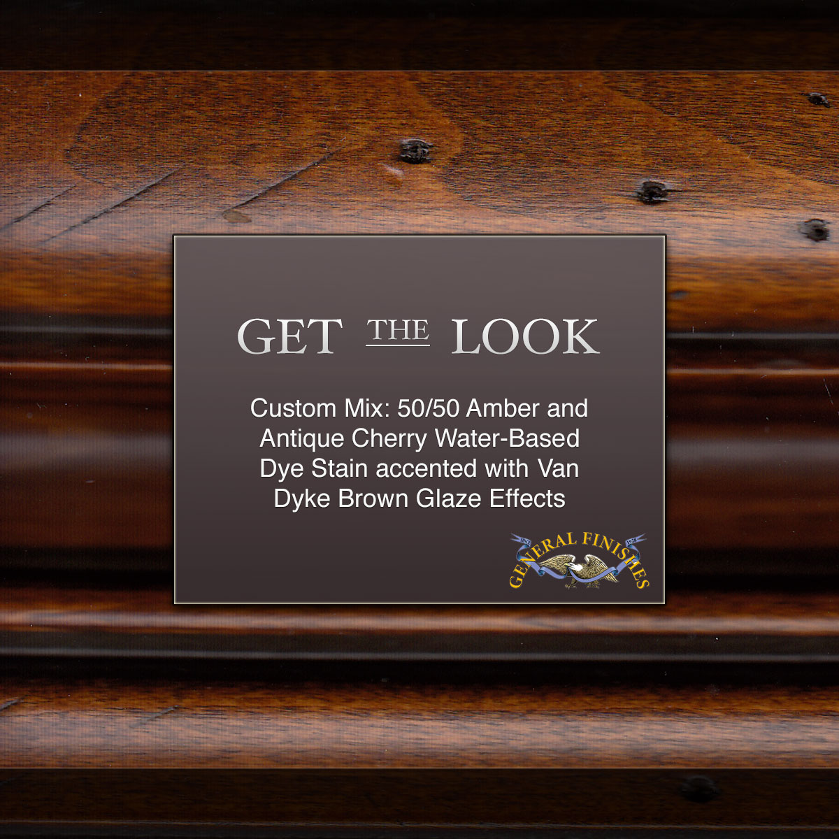 Get The Look Custom Mix Antique Cherry Amp Amber Wood