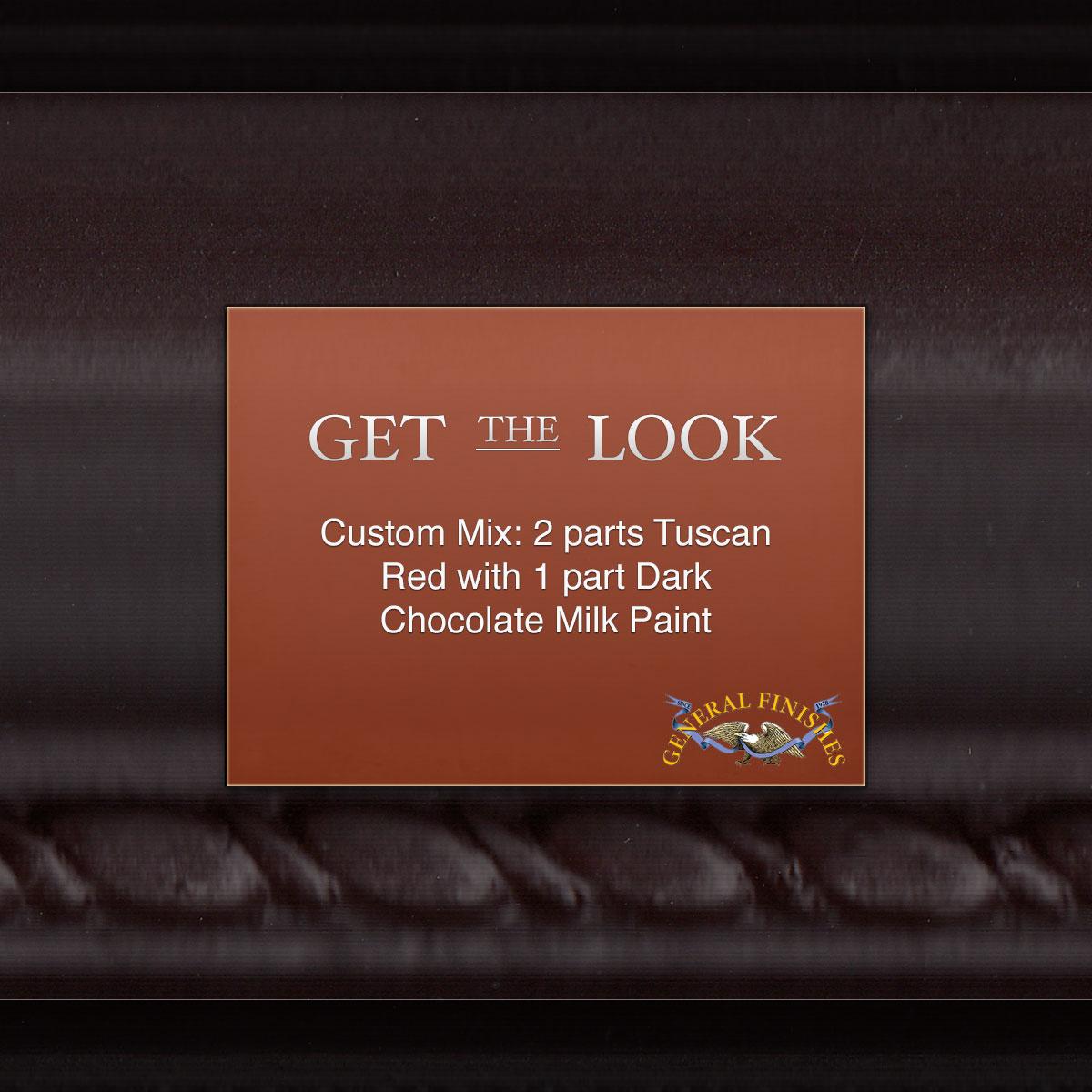 Get The Look Custom Mix Tuscan Red Amp Dark Chocolate Milk