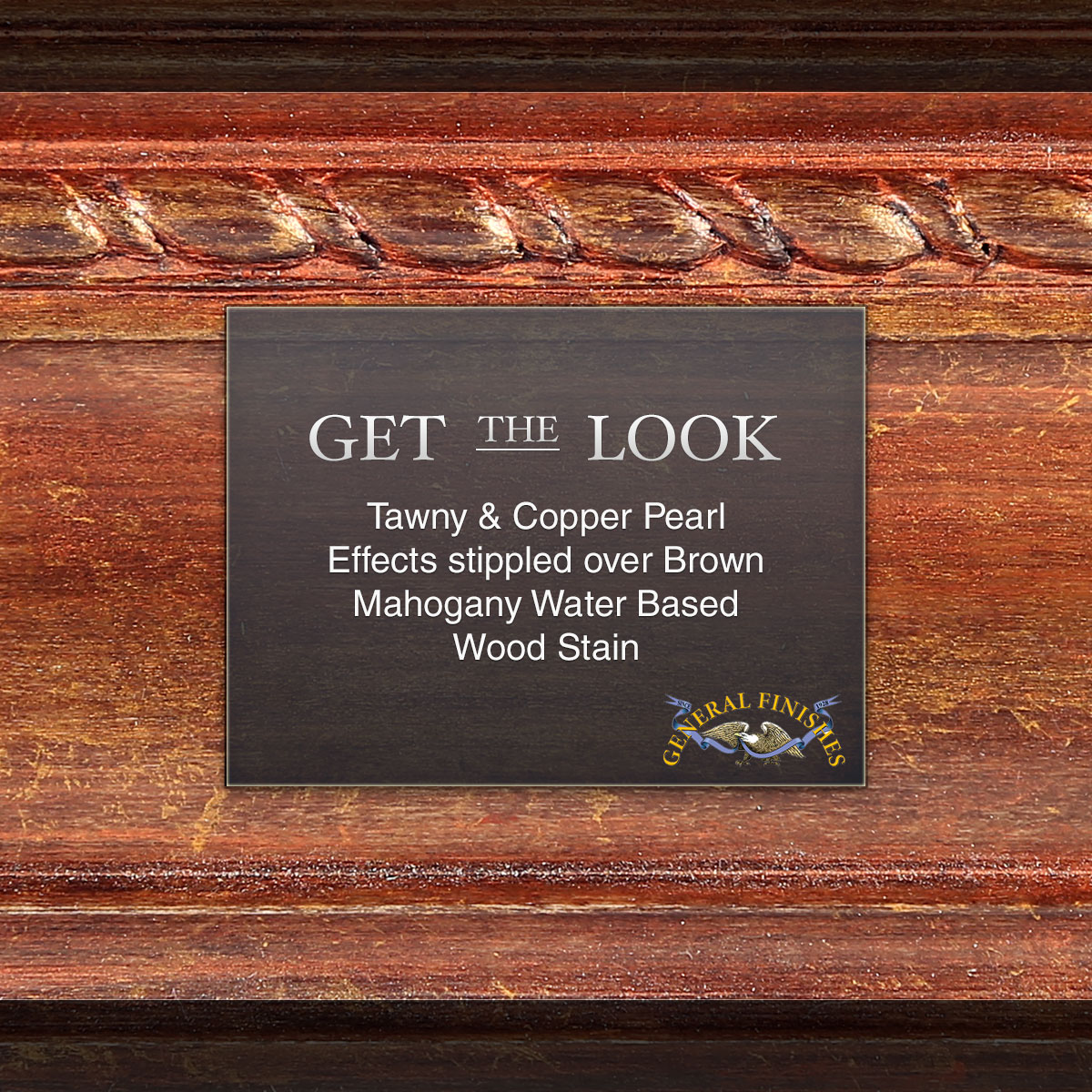 Water based wood stains general finishes get the look copper and tawny pearl effects over brown mahogany water based stain nvjuhfo Image collections