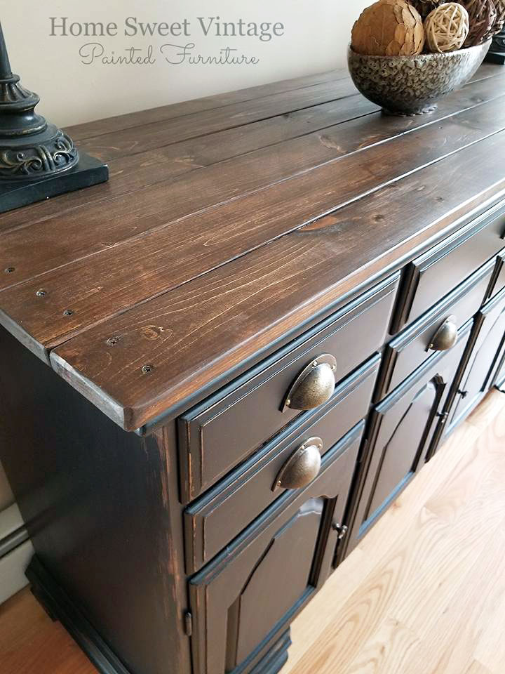 Black Pepper Chalk Style Paint Buffet | General Finishes ...