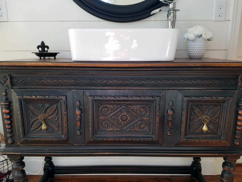 Lamp Black Bathroom Vanity General Finishes Design Center