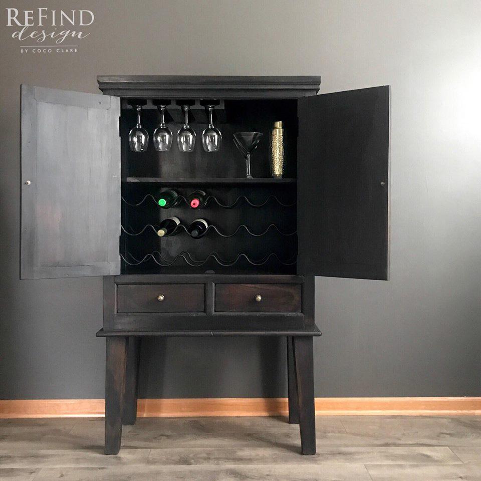 Lamp Black Bar Cabinet General Finishes Design Center