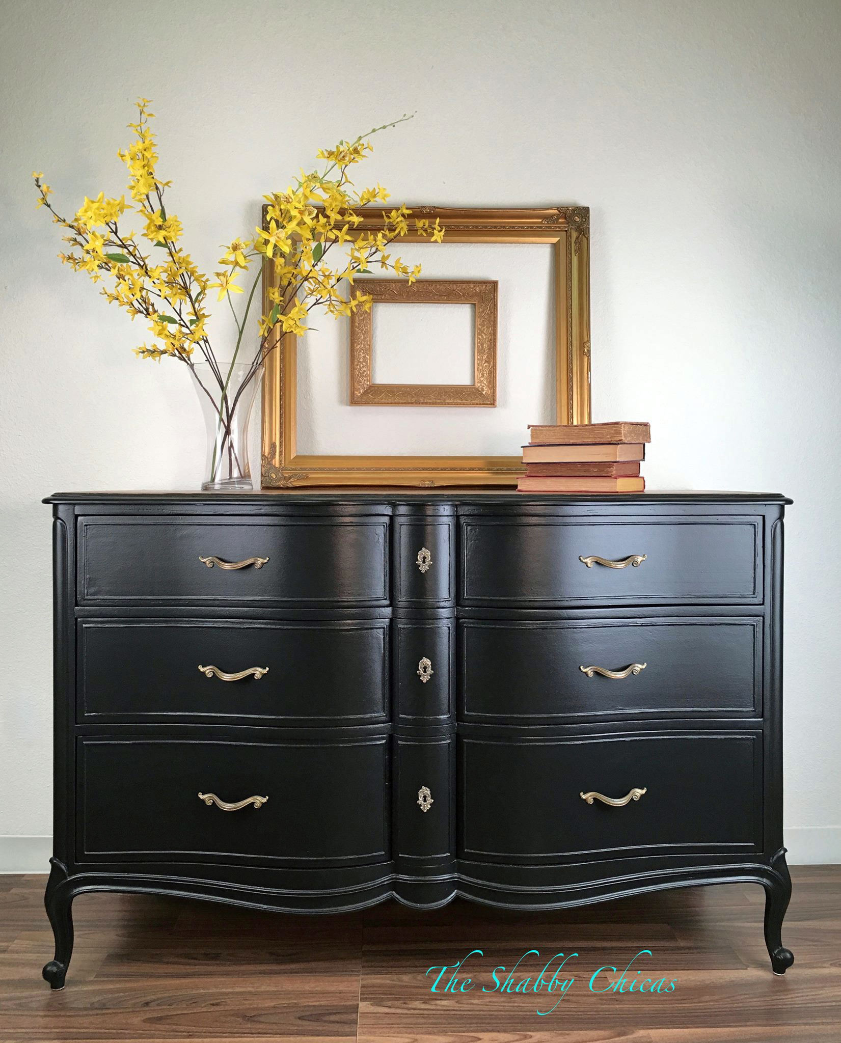 Lamp Black French Provincial Dresser General Finishes