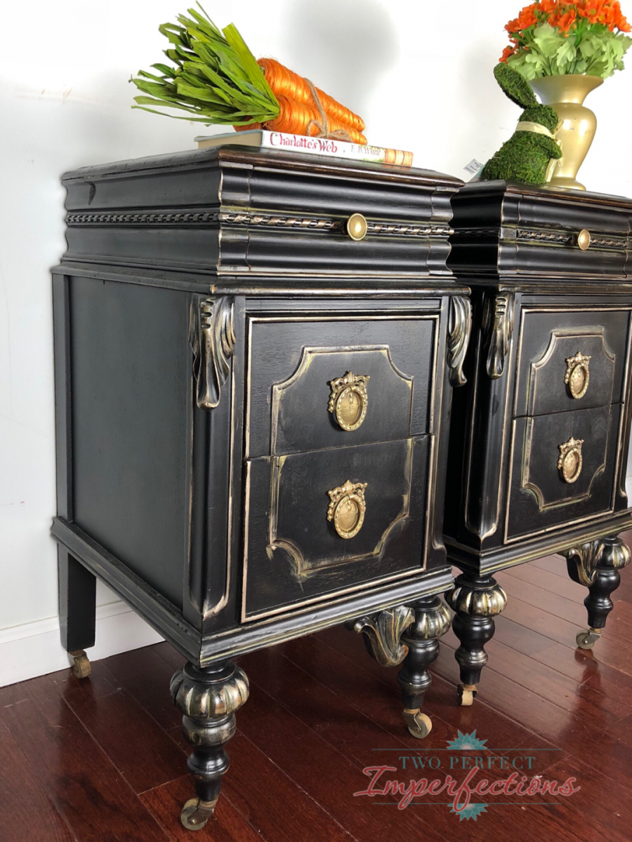 Black And Gold Nightstands General Finishes Design Center