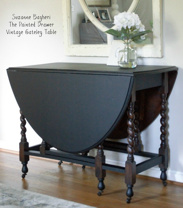 Vintage Gateleg Table Makeover With Gf Lamp Black And Java