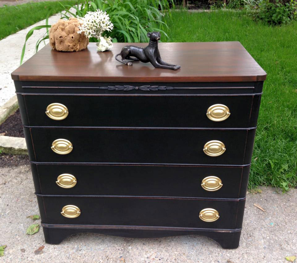 General Finishes Gel Stain Pint Or Furniture Oil Topcoat: Walker Bachelor Chest In Gel Stain And Milk Paint