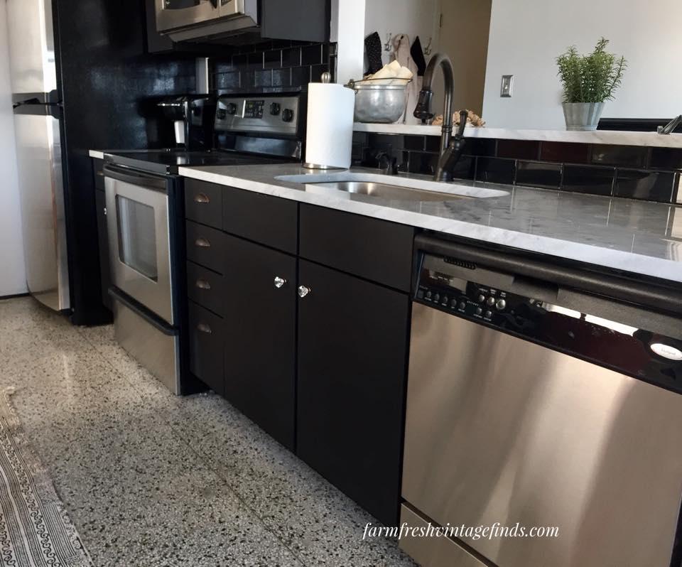 Lamp Black Kitchen Cabinets General Finishes Design Center