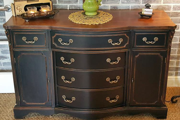 Divine Distressed Buffet In Lamp Black General Finishes Design Center