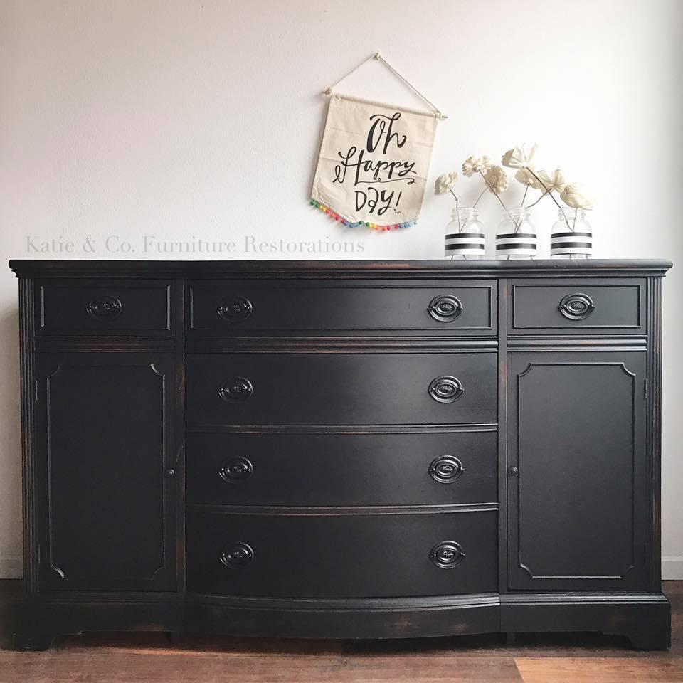 Classy Dresser In Lamp Black Milk Paint General Finishes