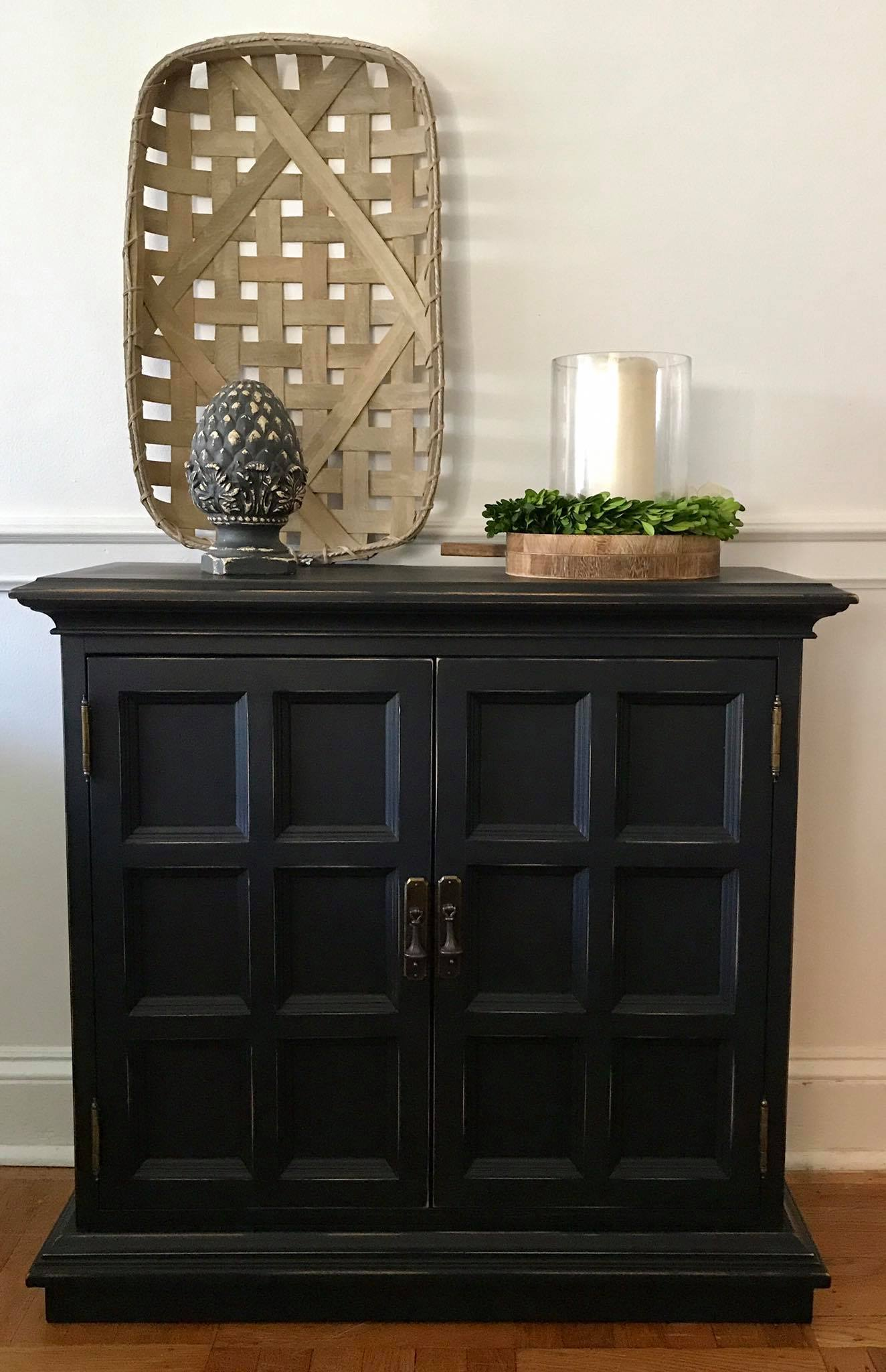 Ethan Allen Used Furniture >> Ethan Allen Console Cabinet in Lamp Black | General ...
