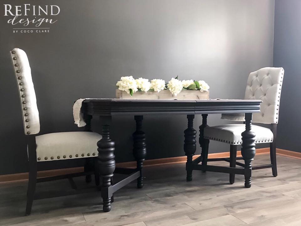 Showstopper Dining Table Set In Lamp Black Amp Dye Stain