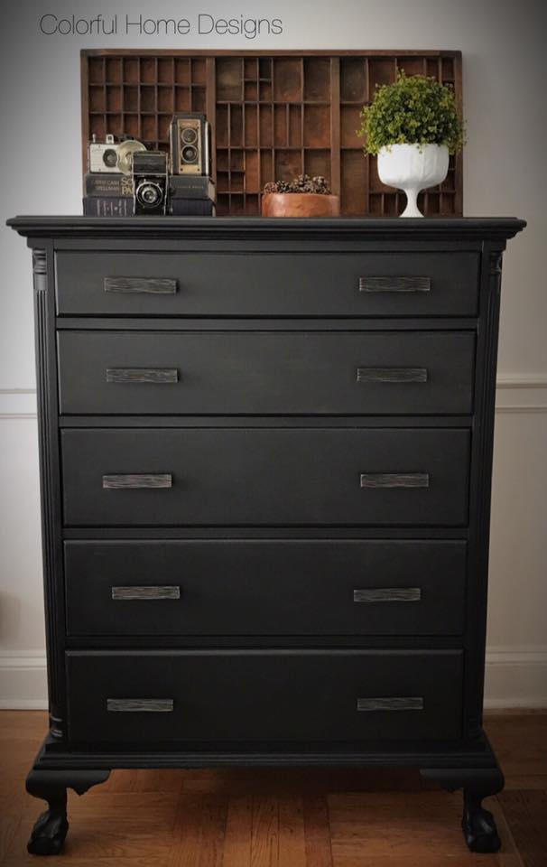 Matte Black Dresser In Lamp Black General Finishes