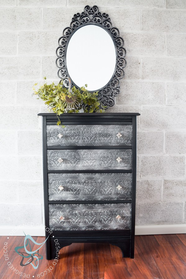 Decoupaged Wallpaper Dresser With Gf Chalk Style Paint And