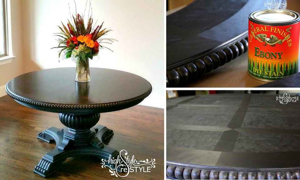 Elegant Ebony Pedestal Table General Finishes Design Center