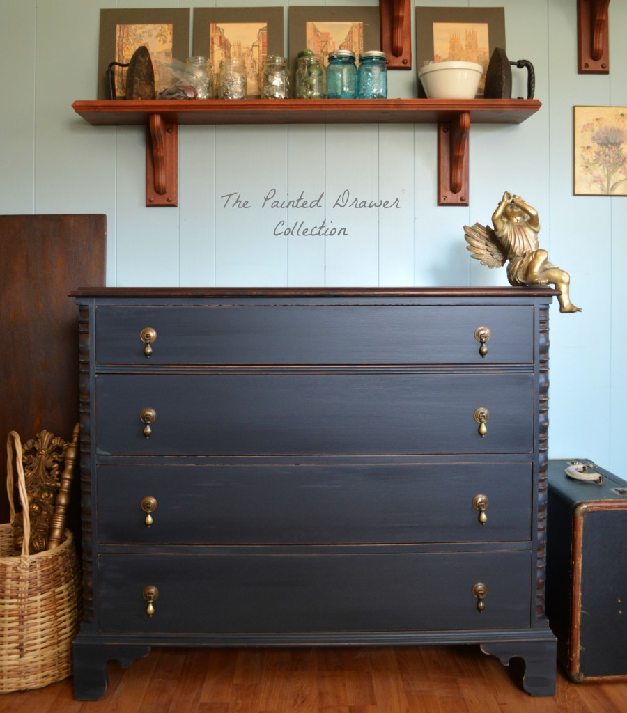Dresser In Black Pepper Chalk Style Paint And Flat Out