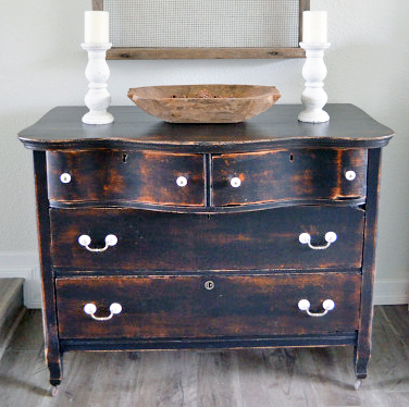 Painting Furniture With General Finishes Milk Paint Lamp Black