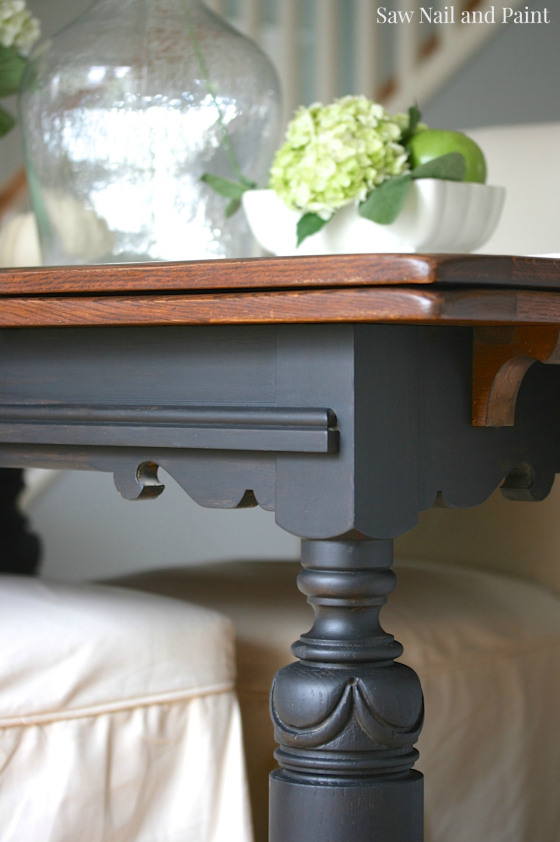 Lamp Black and Java Drop Leaf Table | General Finishes ...