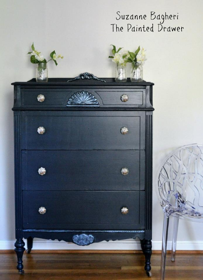 Midnight Blue Chalk Style Paint Dresser General Finishes