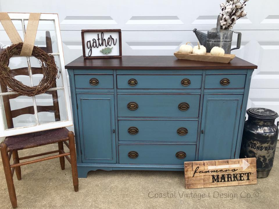 Distressed Buffet Chalk Paint