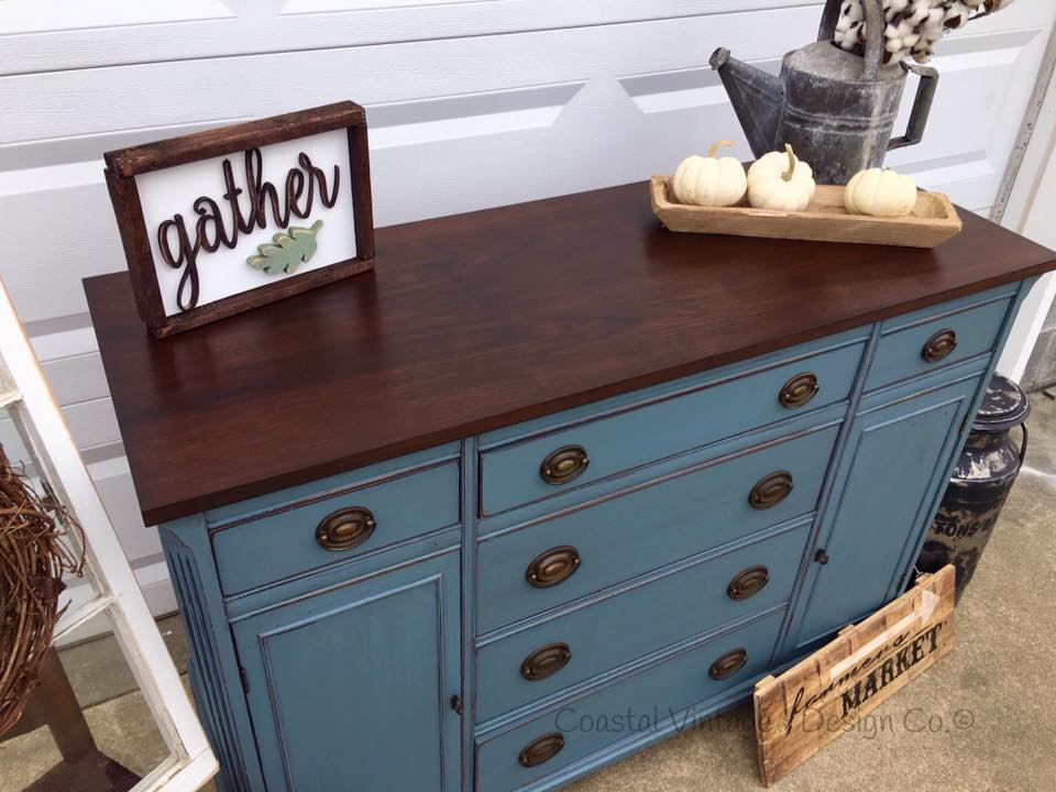 Buffet In Charleton Blue Amp Java General Finishes Design