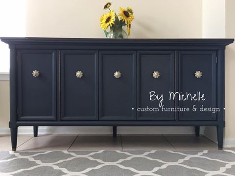Darling Buffet In Midnight Blue Chalk Style Paint General Finishes Design Center