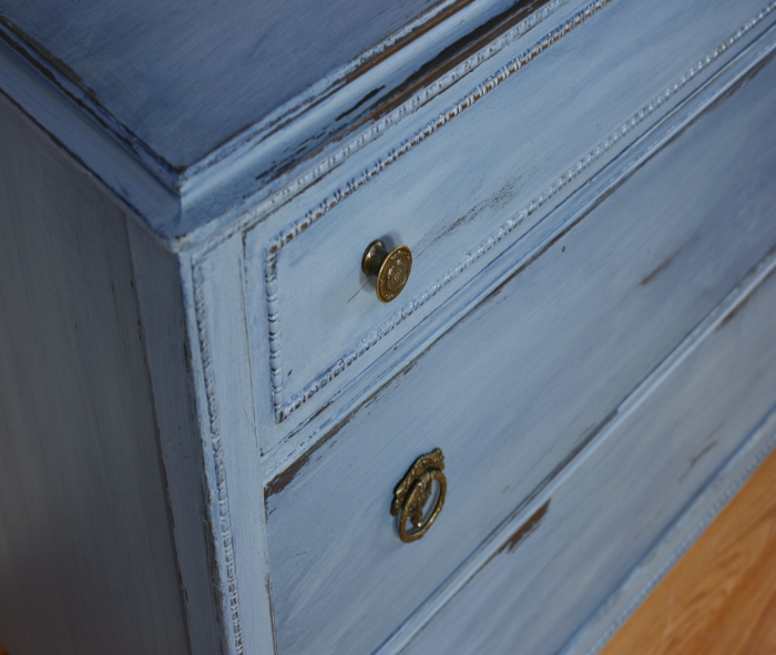 Dresser Color Washed W Coastal Blue General Finishes