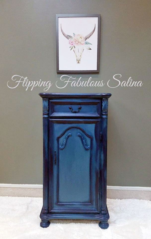 Custom Blue Jewelry Armoire General Finishes Design Center