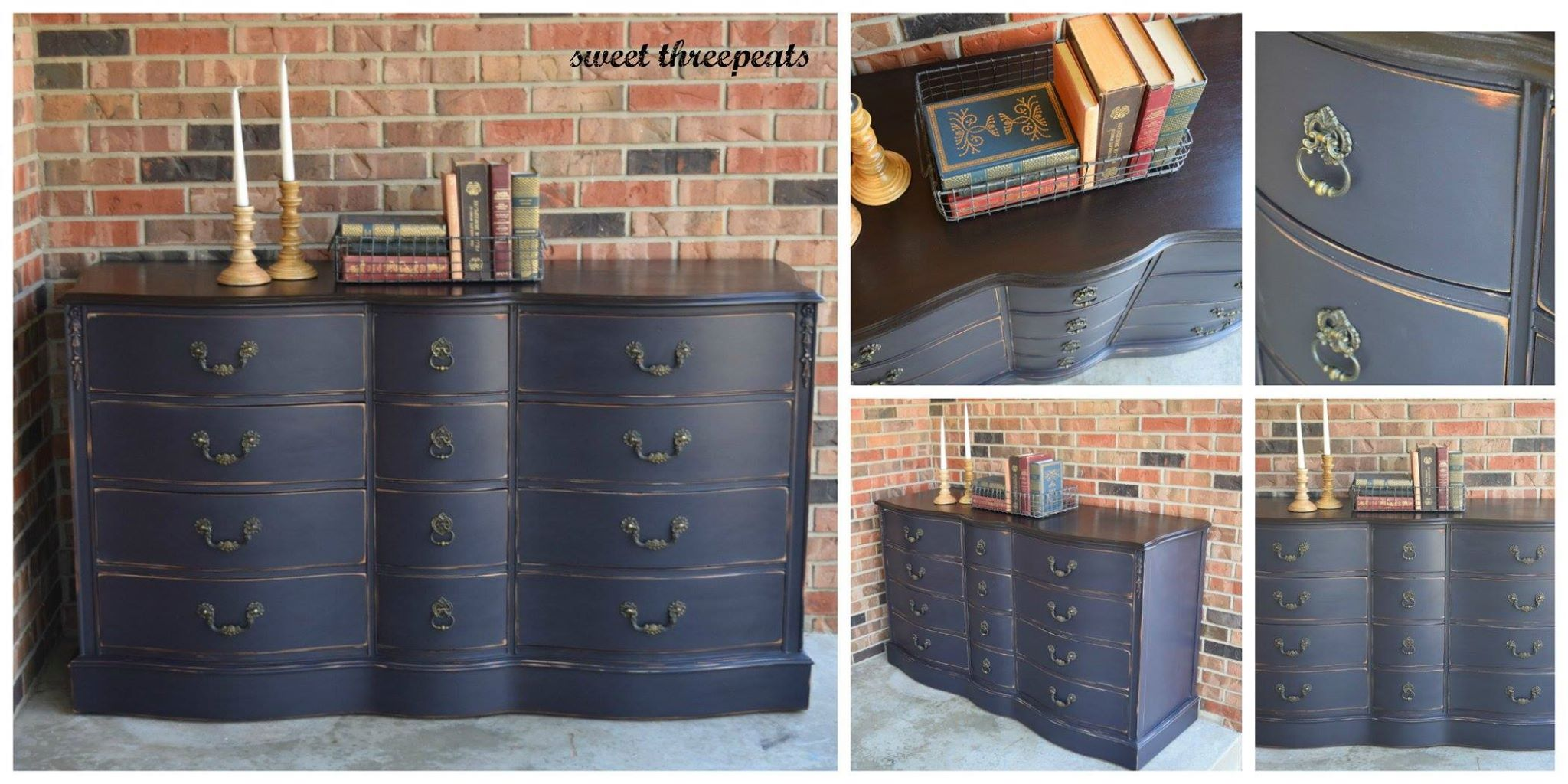 Custom Mixed Navy Dresser with GF Milk Paint