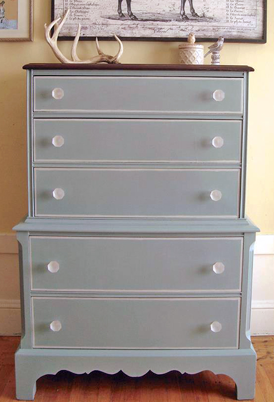 Persian Blue Dresser With Chapin Gray Details General