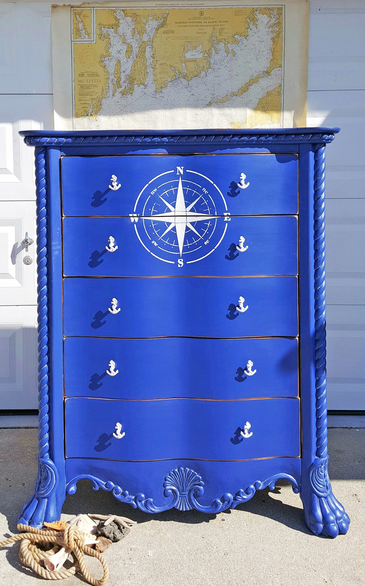 Klein Blue Nautical Dresser General Finishes Design Center