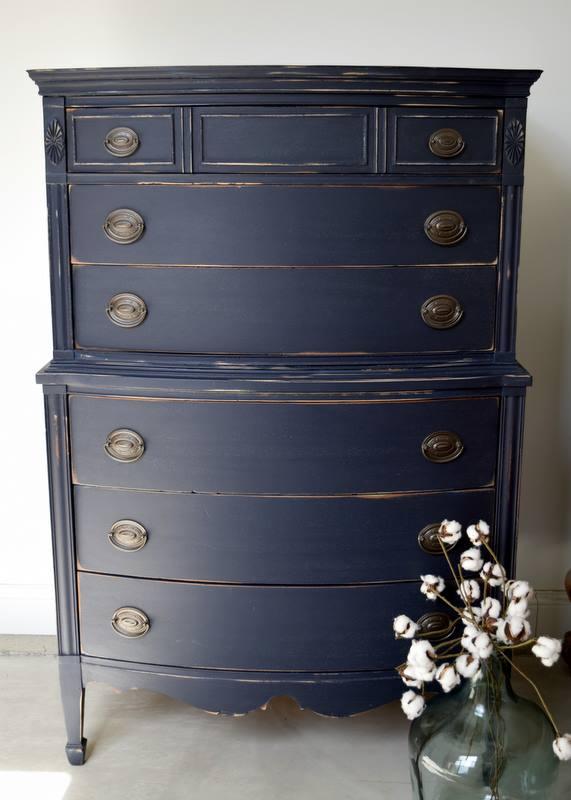 Coastal Blue Distressed Dresser General Finishes Design
