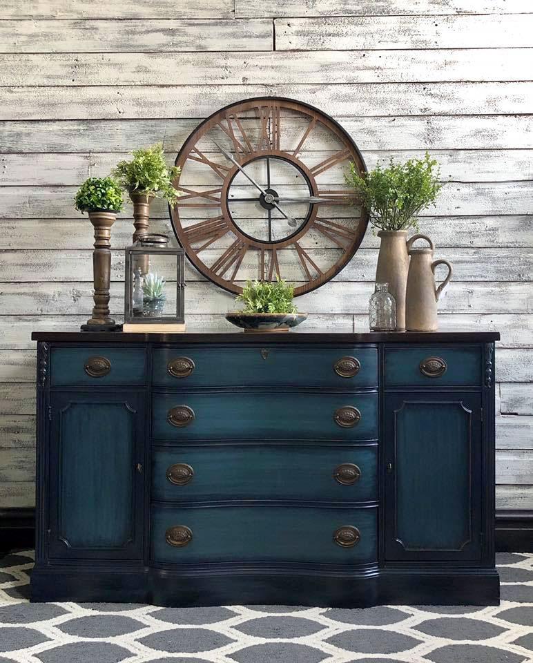 Blue Moon Blended Dresser   General Finishes Design Center