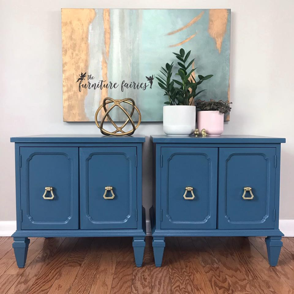 Blue Moon Nightstands   General Finishes Design Center