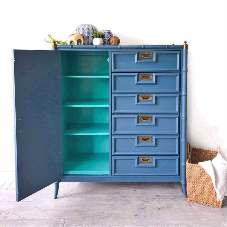Blue Moon Faux Bamboo Dresser   General Finishes Design Center