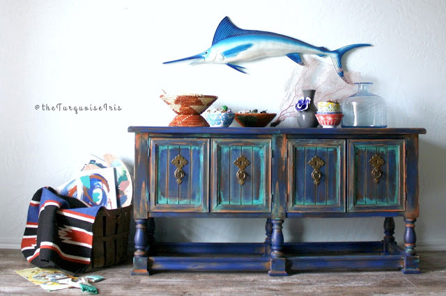 Console Table Coasting In Colorful Aqua General