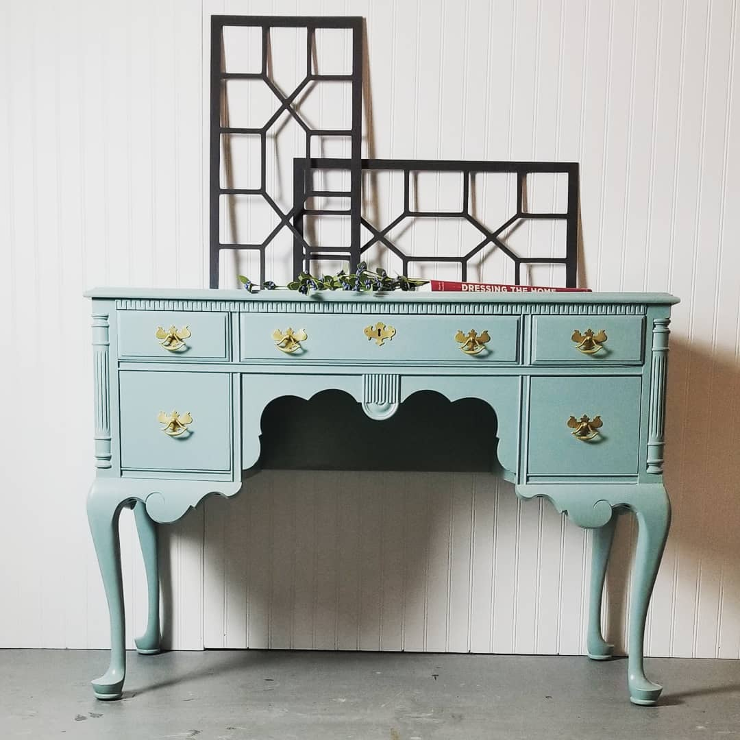Vintage Vanity In Persian Blue Milk Paint General Finishes Design Center