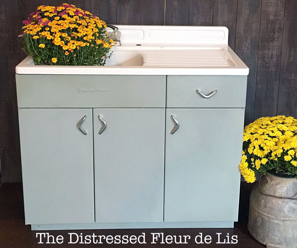 General Finishes Design Center: Vintage Farmhouse Sink In Persian Blue