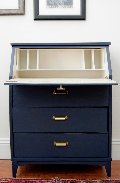 Coastal Blue Secretary Desk General Finishes Design Center