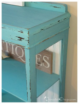 Bookcase In Key West Blue Chalk Style Paint And Snow White