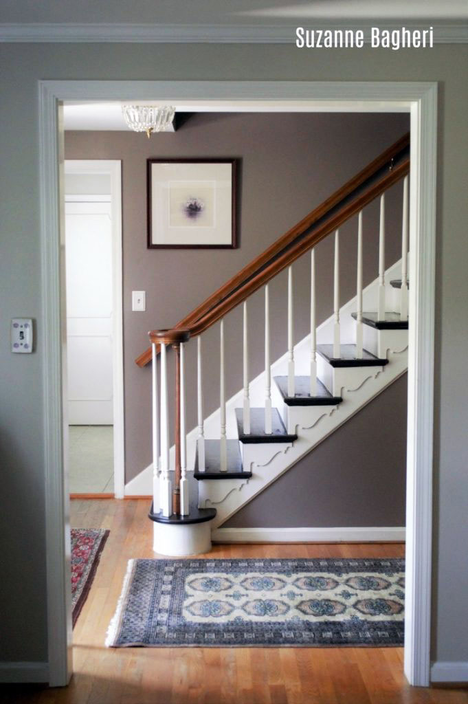 Painted Stairs Makeover