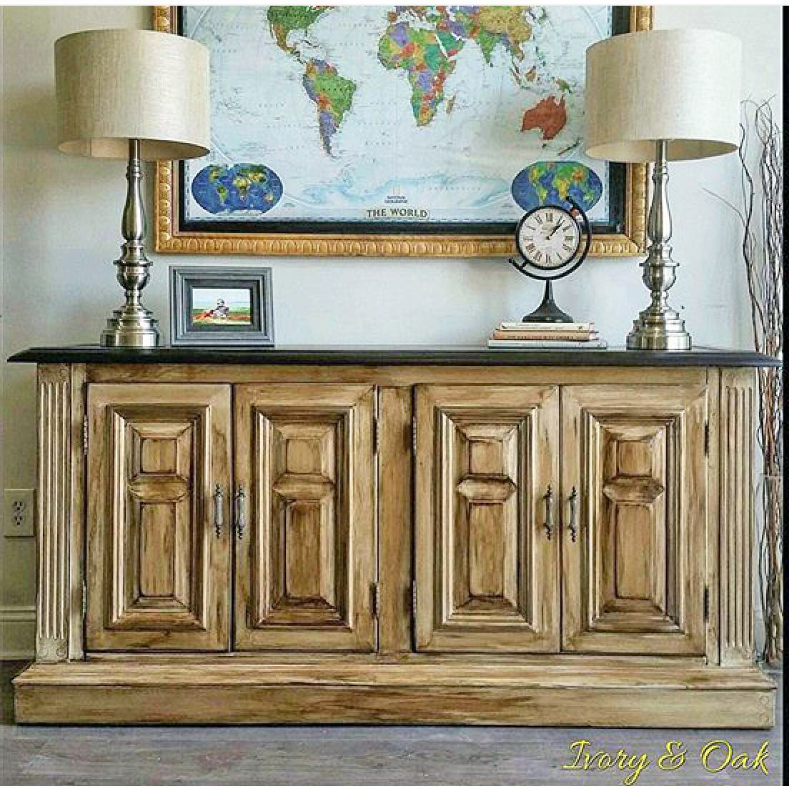 Antique White Glazed Kitchen Cabinets: General Finishes Design Center